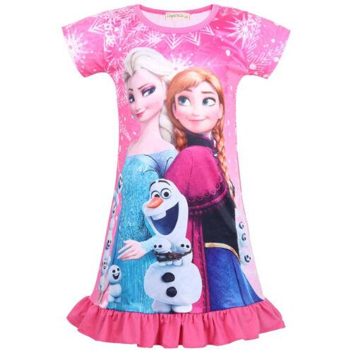 Kinder Mädchen Frozen Prinzessin Elsa Anna Skater Minikleid Cosplay Partykleider