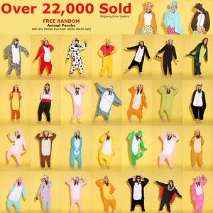 Adult-Fleece-Unisex-Playsuit-Kigurumi-Animal-Pajamas-Costume-Sleepwear