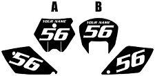 2005-2006 KTM 450 SX Custom Pre-Printed Black Backgrounds White Numbers