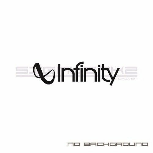 Infinity Decals Stickers Car Audio logo car window stickers Pair