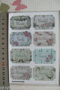 SHABBY-ROSE-Collection-Word-Tags-x-8-Sticker-Pack-45-30mm-by-Fab-Scraps