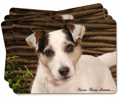 Jack Russell Dog 'Love You Mum' Picture Placemats in Gift Box, ADJR56lymP
