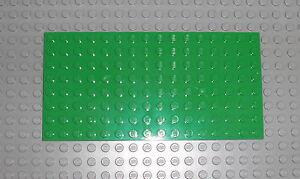 LEGO Basic - 1x Bauplatte 8x16 hellgrün / bright green Platte Base Plate 92438