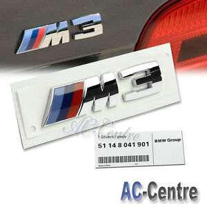 Gloss Black BMW Small M3 M Power Rear Boot Lid Badge Lettering M Sport