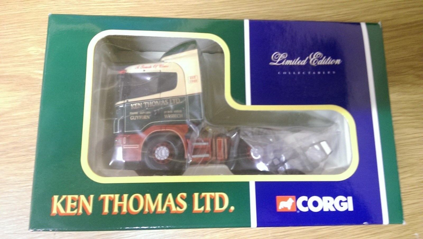 Corgi CC12214 Scania 4 series Tractor Unit Ken Thomas Ltd Ltd Edition 0001 3200