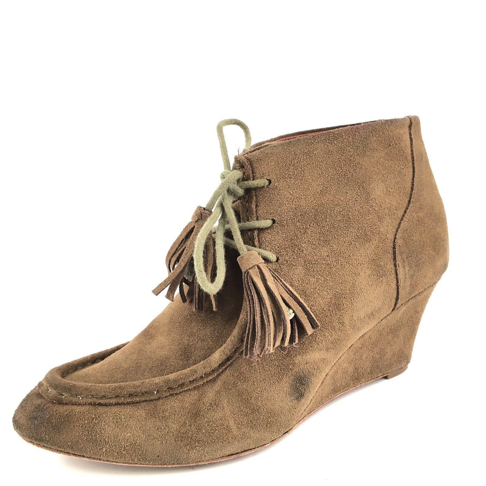 rebecca minkoff mia chestnut daim daim daim de wedge bottines femme taille 9,5 m * 61caec