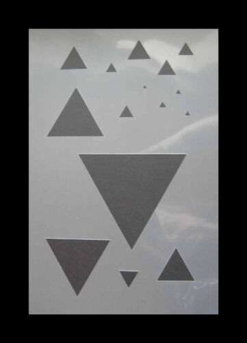 002 Dreieck Airbrush Schablone Step by Step Stencil Form