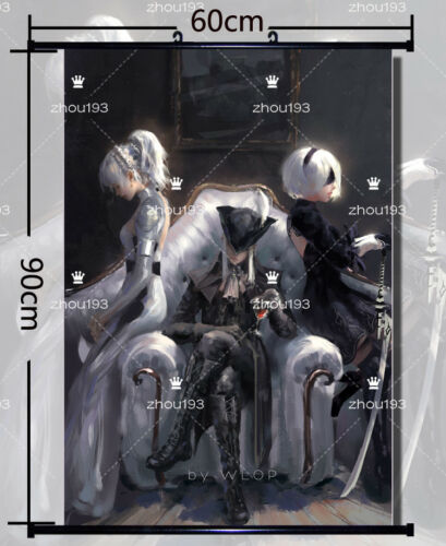Game NieR:Automata Wall Scroll Poster Home Decor Art Gift 60*90cm#0829
