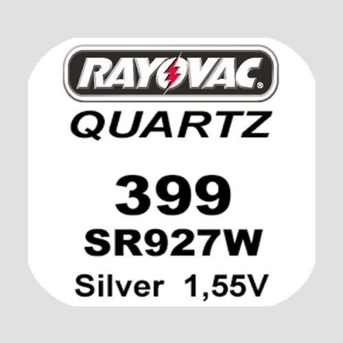 4x Rayovac SWISS MADE Uhren Batterie Knopfzelle 399//SR927W AG7 1,55V Blister Neu