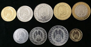 DJIBOUTI-SET-9-COIN-1-2-5-10-20-50-100-250-500-FRANCS-1991-2016-UNC