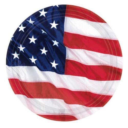 8pk USA Flying Couleurs plaques 26.6 cm American Patriotic Party Vaisselle Anniversaire