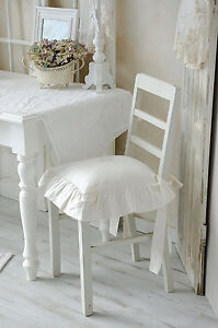 stuhlkissen hussenkissen r schenkissen sitzkissen kissen offwhi landhaus shabby. Black Bedroom Furniture Sets. Home Design Ideas