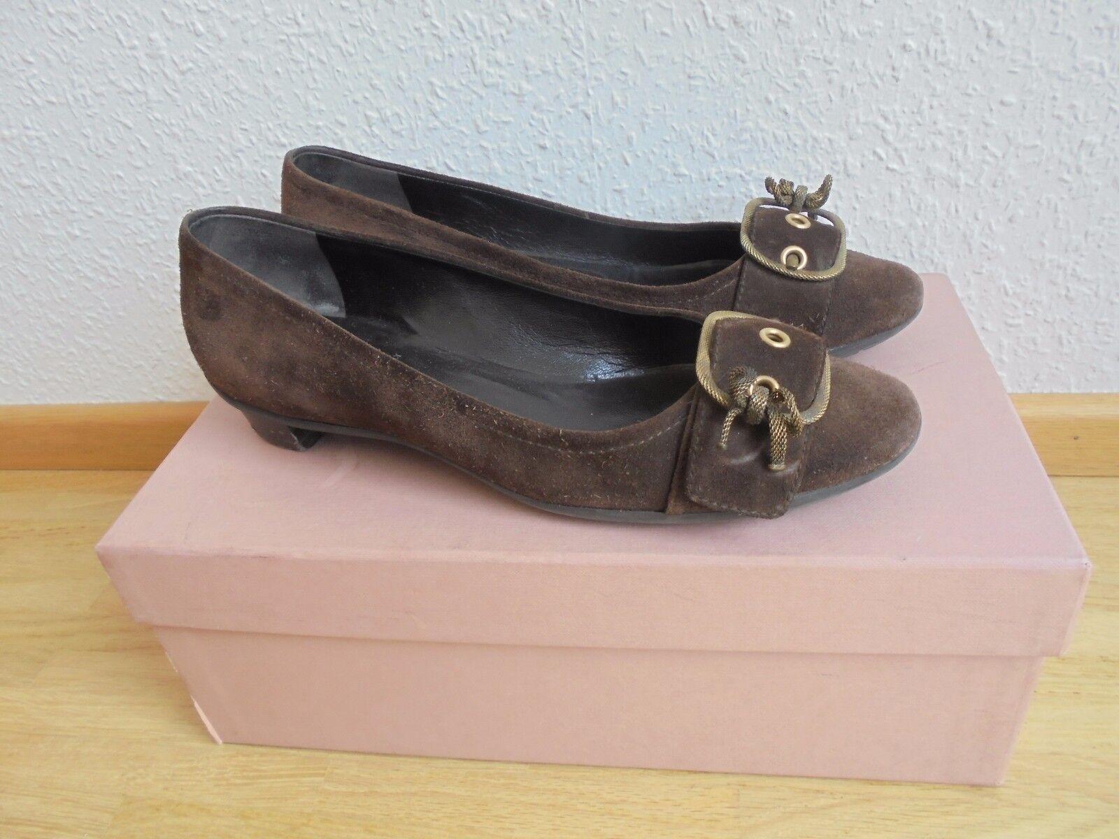 Miu Miu by Prada Wildleder Ballerinas NP:  Pumps Schuhe Gr. 36