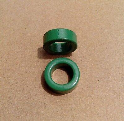 10 Pcs 22mm x 14mm x 8mm Toroid Ferrite Cores Green for Inductors