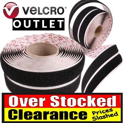 Velcro Self Adhesive Tape Sticky Tape strip PS14 Hook /& loop 10mm black or white