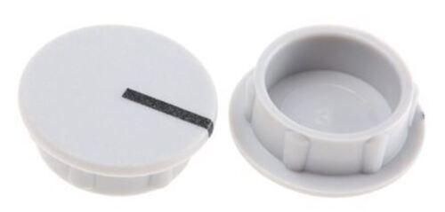 15 mm de diamètre Sifam Potentiomètre Knob Capuchon noir pour utilisation doublé Cap type