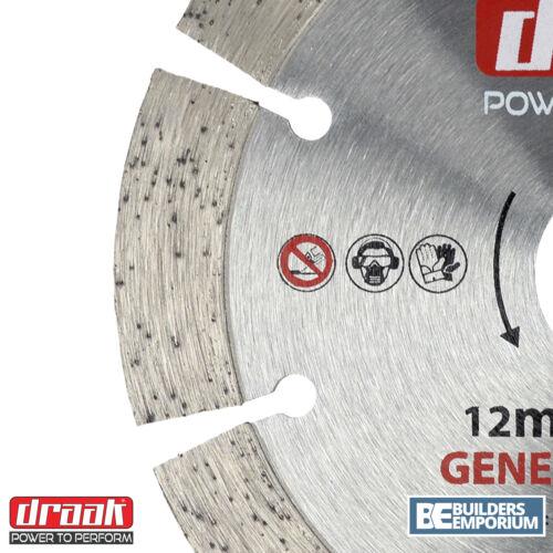 "Concrete 115mm 4.5/"" General Purpose Diamond Blade Disc Stone Brick DRAAK"