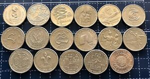 AUSTRALIAN-1-ONE-DOLLAR-COMMEMORATIVE-YEAR-AUSTRALIA-COIN-SET-17-Coins-Total