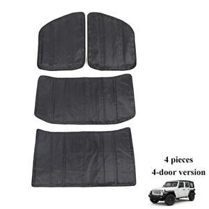 Headliner Roof Heat Insulation Sound Cotton Black For Jeep Wrangler JL 2018+