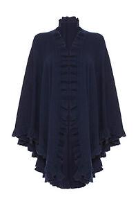 Black 100 red navy blue grey beige Frilly Cape Cashmere qqw6AUtS