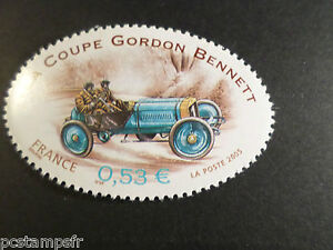 France 2005, Timbre 3795, Gordon Bennet Sport Automobile Les Rallyes, Neuf** Car
