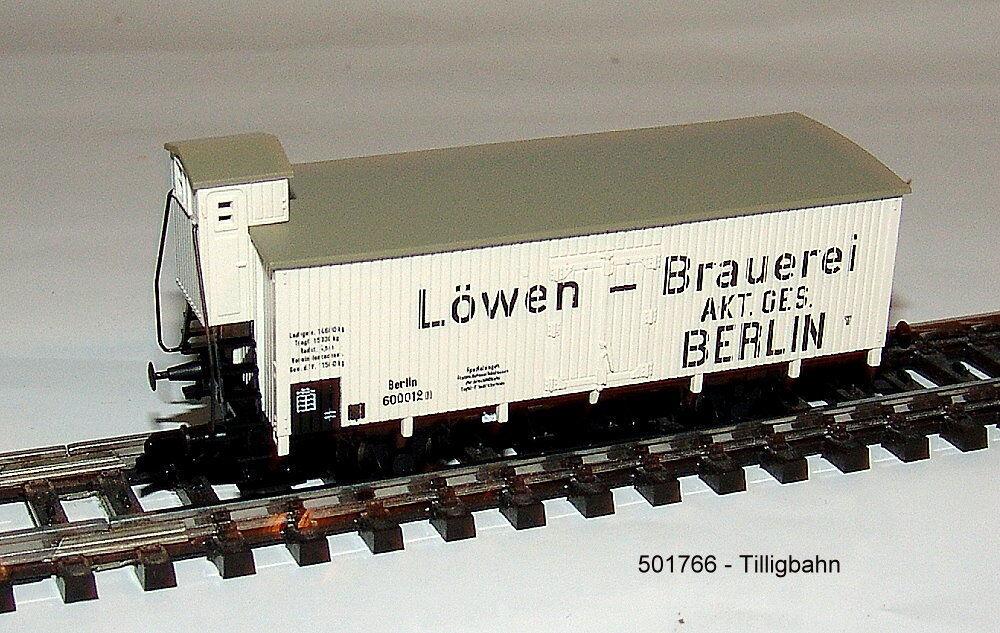 Tillig Railway 501766 - Refrigerator Wagon - A2- Kpev I Löwen-brauerei Berlin  ,