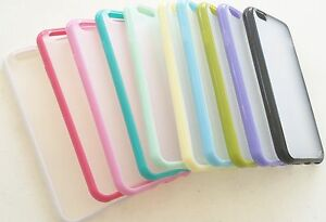 "lot FROSTED phone cases cover skin fitted FOR iPhone 6 4.7"" w/screen protectors"