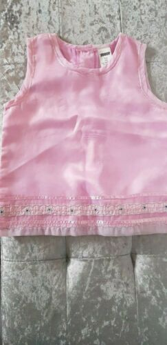 GIRLS PRETTY PINK SLEEVELESS TOP//BLOUSE SIZE 3-4 /& 5-6 YEARS