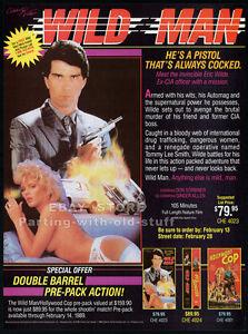 WILD-MAN-Original-1989-Trade-print-AD-promo-GINGER-LYNN-ALLEN-MICHELLE-BAUER