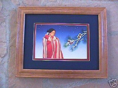 framed MATTED  Navajo  print R C Gorman REVERIE