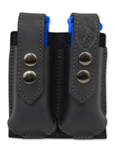 NEW Barsony Black Leather Dbl Mag Pouch Sig-Sauer Walther Mini//Pocket 22 25 380