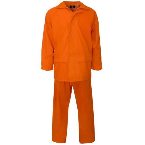 Waterproof RainsuitJacket /& Trouser Rain Suit SetHi VisWorkwear