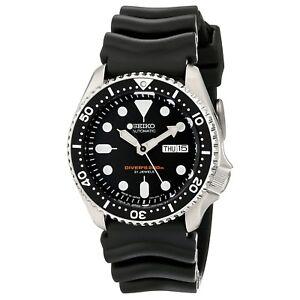 SEIKO SKX007J1 Analog Automatic Black Dial Black Rubber 200m Diver's Watch Japan