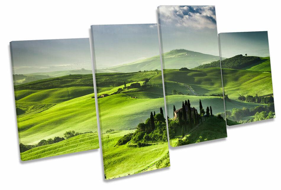 Tuscany Tuscany Tuscany Landscape Vineyards MULTI CANVAS WALL ART Boxed Framed 4ae3cc
