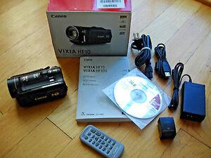 canon vixia hf10 hd camcorder remote software manual ac usb cables rh ebay co uk canon vixia hf r10 instruction manual canon vixia hf r10 instruction manual
