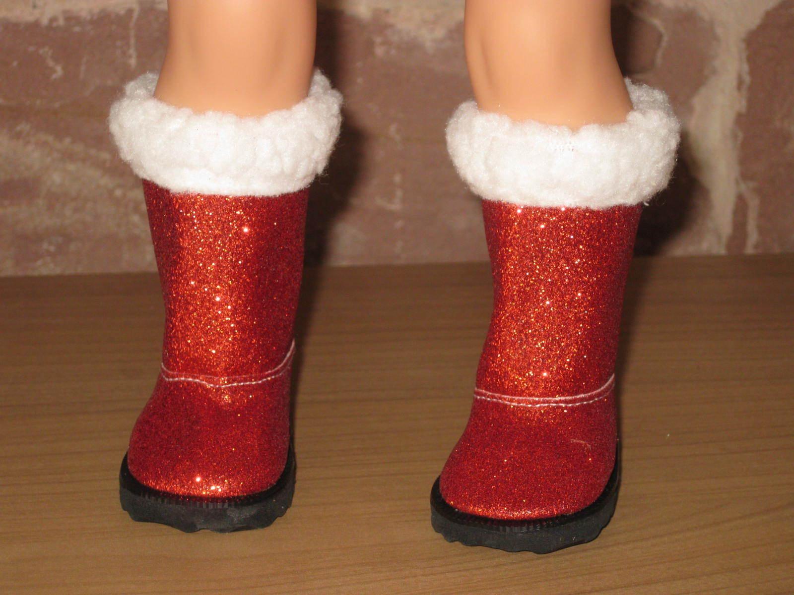 Nikolaus botas, zapatos, muñecas zapatos, 7,2cm, 7,2cm, 7,2cm, rojo, 46-50cm pie-muñeca, 1686 edf918