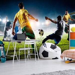 Details zu Vlies Fototapete Fussball Kinderzimmer Sport Stadion Tapete xxl  i-B-0051-a-a