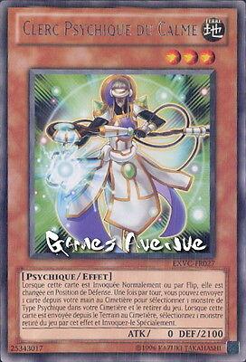 EXVC-FR027 VF//RARE par 2 !! Carte Clerc Psychique du Calme Yu-Gi-Oh