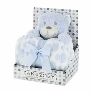 Zak Amp Zoey 2 Pc Plush 30 X 30 Baby Security Sleep Blanket