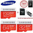 SAMSUNG EVO Plus 128G 64G 32GB MicroSD Micro SDHC C10 Flash Memory Card SD 80M/S