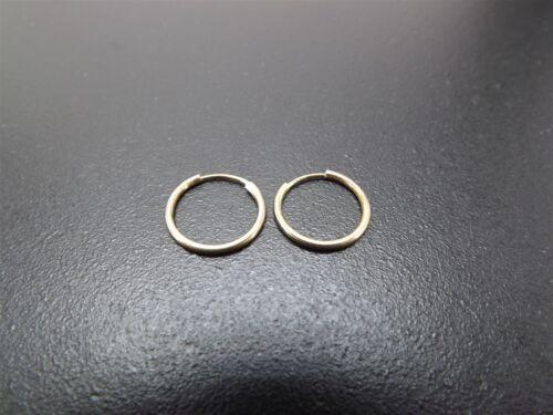 Vintage Sterling Silver Beautiful Hoop Earrings Solid .925 0.4 Grams