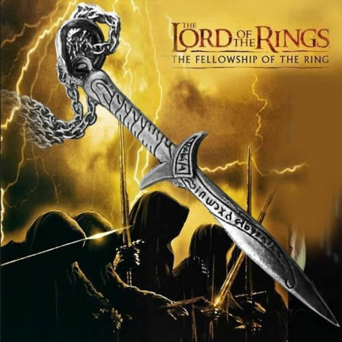 THE LORD OF THE RINGS LOTR/HOBBIT Antique Sting Silver Sword Pendant Necklace NW