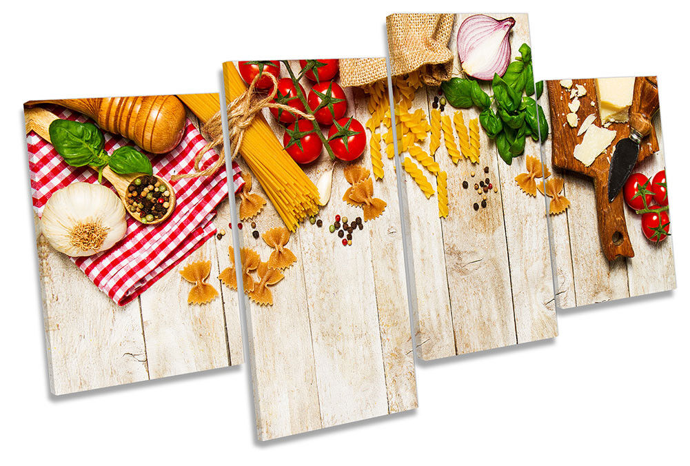 Cooking Kitchen Ingrotients Framed MULTI CANVAS PRINT Wall Art
