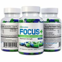Excelerol Focus Plus Brain Supplement Capsules 60 Count Maximum Strength Health