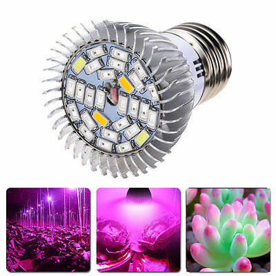 28W LED Plant Grow Light Lamp Efficient Hydroponic Full Spectrum Growing E27 UP