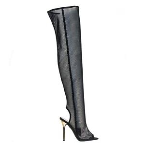 69c33d94634e8a Details about Adele403 Over Knee See Through Fishnet Mesh Boots