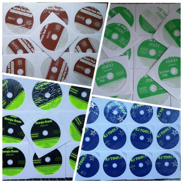 48 cdg discs karaoke lot cd + g songs 700+ songs standards, rock, oldies, pop, country
