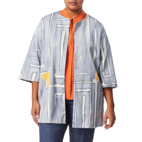 MARINA RINALDI Women/'s Blue//Orange Filosofo Reversible Jacket $865 NWT