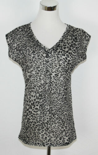 ESPRIT T-Shirt Leo Print schwarz grau NEU *UVP 25,99€