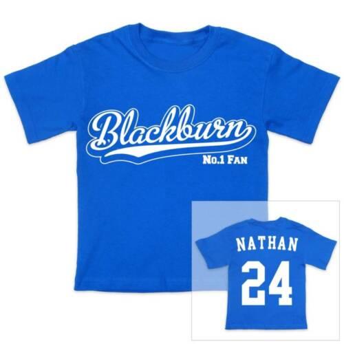Blackburn Calcio personalizzato ragazzi//ragazze T-shirt